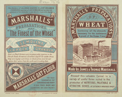 Advert For Marshall's Wheat Preparations